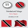 Trinidad und Tobago-Symbole-set