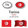 Vector clipart: tunisia icons set