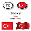 Vector clipart: turkey icons set