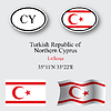 turkish republic of northern cyprus icons set