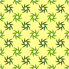 Vector clipart: twisted flowers pattern
