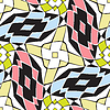 Vector clipart: twisted squares pattern