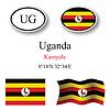 Vector clipart: uganda icons set
