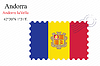 Vector clipart: andorra stamp design