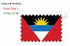Векторный клипарт: Антигуа и Барбуда печать дизайн