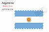 Векторный клипарт: Аргентина печать дизайн