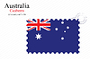 Векторный клипарт: Австралия штамп дизайн