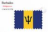 Векторный клипарт: Барбадос печать дизайн