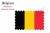 Векторный клипарт: Бельгия штамп дизайн