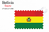 Vector clipart: bolivia stamp design