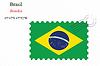Векторный клипарт: Бразильский печать дизайн