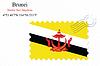 Векторный клипарт: Бруней печать дизайн