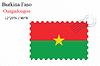 Векторный клипарт: Буркина-Фасо печать дизайн