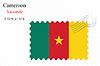 Векторный клипарт: Камерун печать дизайн