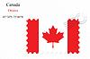 Векторный клипарт: Канада штамп дизайн