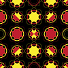 Векторный клипарт: круги абстрактные бесшовные модели