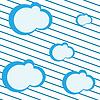 Векторный клипарт: облака и полосы