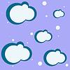 Векторный клипарт: облака на синем