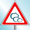 Векторный клипарт: облака дорожный знак