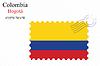 Векторный клипарт: Колумбия печать дизайн