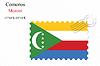 Векторный клипарт: Коморские острова штамп дизайн
