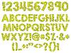 Векторный клипарт: кракелюр алфавит