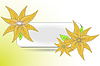 Векторный клипарт: декоративные цветочные баннер