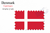 Vector clipart: denmark stamp design