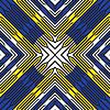 Векторный клипарт: диагональ голубой желтый полосы шаблон