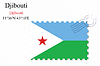 Vector clipart: djibouti stamp design