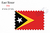 Векторный клипарт: Восточный Тимор печать дизайн