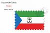 Vector clipart: equatorial guinea stamp design