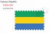 Векторный клипарт: Габонской Республики штамп дизайн