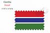 Векторный клипарт: Гамбия печать дизайн