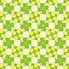 Векторный клипарт: зеленые цветы геометрический узор