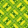 Векторный клипарт: зеленые листья геометрический узор