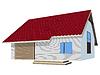 Векторный клипарт: дом с керамической черепицы