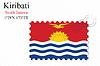 Vector clipart: kiribati stamp design