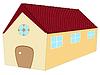 Векторный клипарт: долго 3d дом