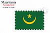 Векторный клипарт: Мавритания печать дизайн