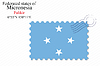 Vector clipart: micronesia states stamp design