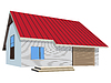 Векторный клипарт: moderd 3d дом