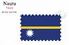 Vector clipart: nauru stamp design