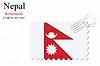 Vector clipart: nepal stamp design