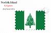 Векторный клипарт: Остров Норфолк печать дизайн