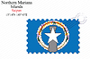 Vector clipart: northern mariana islands stamp design