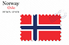 Vektor Cliparts: Norwegen Briefmarkenentwurf