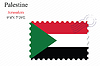 Vector clipart: palestine stamp design