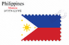 Vector clipart: philippines stamp design