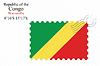 Векторный клипарт: Республика Конго печать дизайн